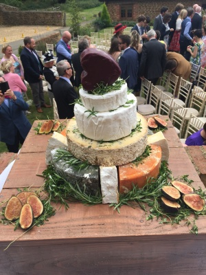 Phil & Katie McManus wedding cheese cake